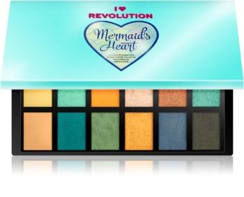 I Heart Revolution Mermaids Heart paleta očních stínů
