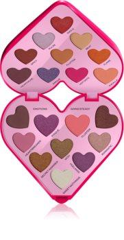 I Heart Revolution Heartbeats paletă cu farduri de ochi