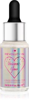 I Heart Revolution Unicorns Glow tekoči osvetljevalec