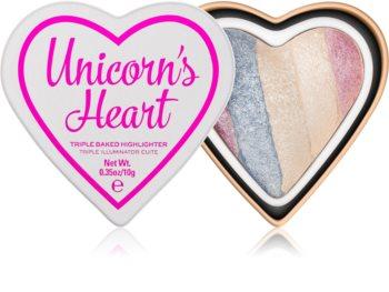 I Heart Revolution Unicorns Heart zapečený rozjasňovač