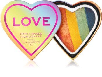 I Heart Revolution Love perleťový rozjasňovač