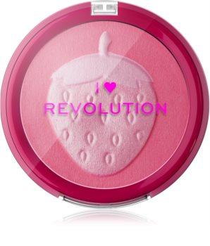 I Heart Revolution Fruity Blusher Strawberry blush compact