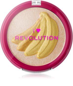 I Heart Revolution Fruity Highlighter Banana enlumineur poudre compact