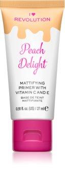 I Heart Revolution Delicious Primer Peach Delight matující podkladová báze pod make-up
