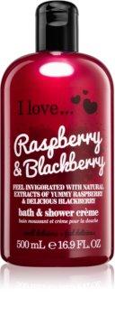 I love... Raspberry & Blackberry cremă de duș și baie