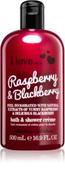 I love... Raspberry & Blackberry crema per doccia e bagno