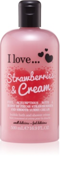 I love... Strawberries & Cream Dusch- und Badecreme