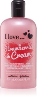 I love... Strawberries & Cream sprchový a koupelový krém