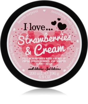 I love... Strawberries & Cream tělové máslo