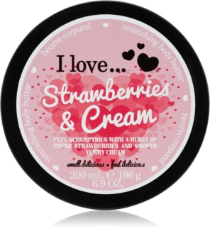 I love... Strawberries & Cream масло за тяло