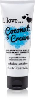 I love... Coconut & Cream crema per le mani