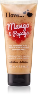 I love... Mango & Papaya gel de dus exfoliant