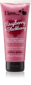 I love... Raspberry & Blackberry sprchový peeling
