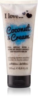 I love... Coconut & Cream sprchový peeling