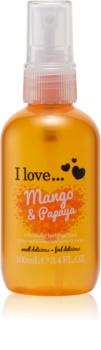 I love... Mango & Papaya osvěžující tělový sprej