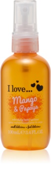 I love... Mango & Papaya Virkistävä Vartalosuihke