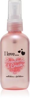 I love... Strawberries & Cream frissítő test spray