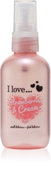I love... Strawberries & Cream Virkistävä Vartalosuihke
