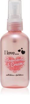 I love... Strawberries & Cream освежаващ спрей за тяло