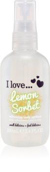 I love... Lemon Sorbet освежающий спрей для тела