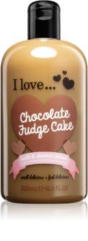 I love... Chocolate Fudge Cake sprchový a koupelový krém