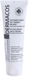 Ideepharm Dermacos Freckles Skin Discoloration crema aclaradora de noche para pieles hiperpigmentadas