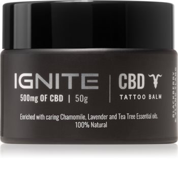 Ignite CBD Camomile, Lavender & Tea Tree 500mg Balsam til frisk tatovering