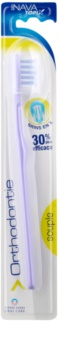 Inava Orthodontie escova de dentes com uma cobertura de viagem para os usuários de aparelho fixo soft