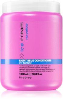 Inebrya No-Yellow Conditioner für blonde und graue Haare neutralisiert gelbe Verfärbungen