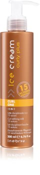 Inebrya Curly Plus Curl One 15 in 1 lapte pentru coafare pentru par ondulat si cret