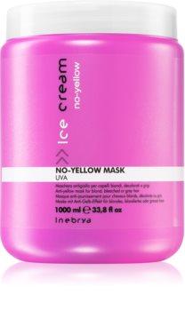 Inebrya No-Yellow Maske für die Haare neutralisiert gelbe Verfärbungen