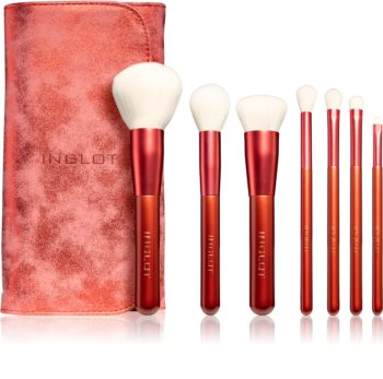 Inglot Marble Red Pinselset mit Etui