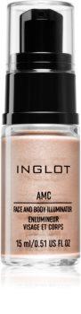 Inglot AMC кремообразен озарител за лице и тяло
