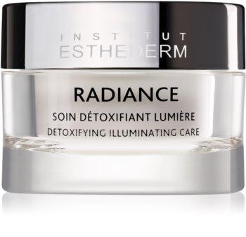 Institut Esthederm Radiance Detoxifying Illuminating Care krém proti prvním známkám stárnutí pro rozjasnění a vyhlazení pleti