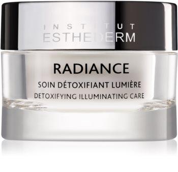 Institut Esthederm Radiance Detoxifying Illuminating Care крем против първи белези на стареене за освежаване и изглаждане на кожата