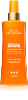 Institut Esthederm Adaptasun Sensitive Protective Body Lotion Beskyttende solcreme lotion Høj solbeskyttelse