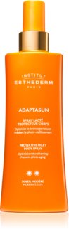 Institut Esthederm Adaptasun Protective Milky Body Spray lait protecteur solaire en spray moyenne protection solaire