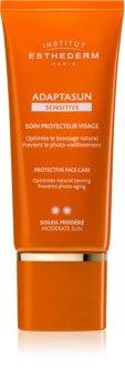 Institut Esthederm Adaptasun Sensitive Protective Face Care защитен крем за лице със средна UV защита