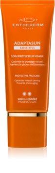 Institut Esthederm Adaptasun Sensitive Protective Face Care schützende Gesichtscreme mittlerer UV-Schutz