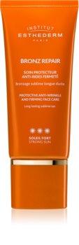 Institut Esthederm Bronz Repair creme facial reafirmante antirrugas de alta proteção UV