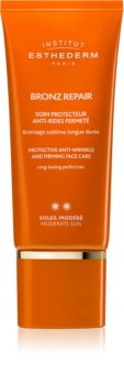 Institut Esthederm Bronz Repair crème anti-rides raffermissante visage moyenne protection solaire
