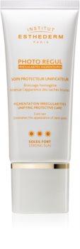 Institut Esthederm Photo Regul Pigmentation Irregularities Unifying Protective Care harmonisierende Pflege für hyperpigmentierte Haut hoher UV-Schutz