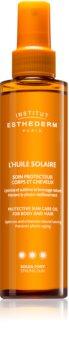 Institut Esthederm Sun Care Protective Sun Care Oil For Body And Hair слънцезащитно олио за тяло и коса с висока UV защита