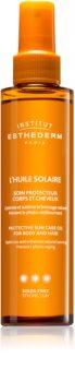 Institut Esthederm Sun Care Protective Sun Care Oil For Body And Hair napolaj testre és hajra magas UV védelemmel