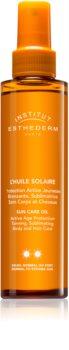 Institut Esthederm Sun Care opalovací olej na tělo a vlasy se střední UV ochranou