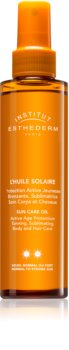 Institut Esthederm Sun Care opaľovací olej na telo a vlasy so strednou UV ochranou