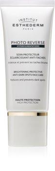 Institut Esthederm Photo Reverse Brightening Protective Anti-Dark Spots Face Care aufhellende schützende Pflege gegen Pigmentflecken hoher UV-Schutz