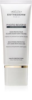 Institut Esthederm Photo Reverse Brightening Protective Anti-Dark Spots Face Care rozjaśniająca ochrona przeciwko plamom pigmentacyjnym z wysoką ochroną UV