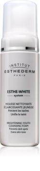 Institut Esthederm Esthe White Brightening Youth Cleansing Foam spuma de curatat cu efect de albire