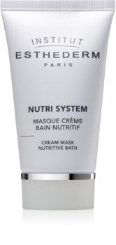 Institut Esthederm Nutri System Cream Mask Nutritive Bath mascarilla nutritiva textura crema con efecto rejuvenecedor